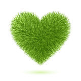 Grass heart symbol. Vector illustration Stock Photography