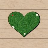 Grass heart symbol Royalty Free Stock Photos