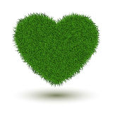 Grass heart Royalty Free Stock Photos