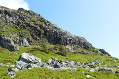 Free Grass Hill LandscapeWith Rocks Royalty Free Stock Images - 119347739