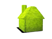 Grass home. Stylish home made of green grass Stock Image