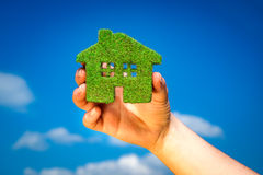 Grass home - Eco Concept Stock Photo