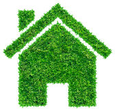 Grass home icon Royalty Free Stock Photo