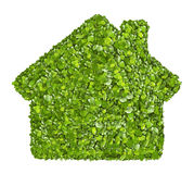 Grass home icon from grass background, isolated Royalty Free Stock Images
