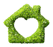 Grass home icon from grass background,. On white royalty free stock image