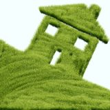 Grass House Stock Photography