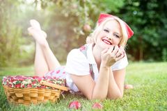 Grass, Human Hair Color, Blond, Sitting Stock Image