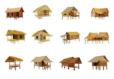 Grass hut. Design Vector Illustration
