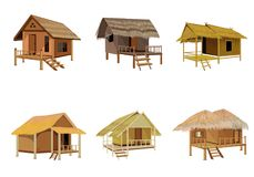 Grass hut design. The grass hut design Stock Images