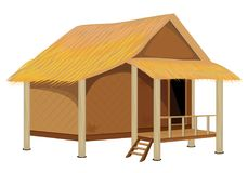 Grass hut design. The grass hut design Royalty Free Stock Images