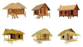 Grass hut design. The grass hut design Royalty Free Stock Photo