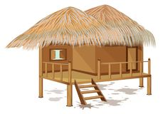 Grass hut design. The grass hut design Stock Image