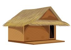 Grass hut design. The grass hut design Royalty Free Stock Image