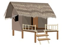 Grass hut design. The grass hut design Royalty Free Stock Photos