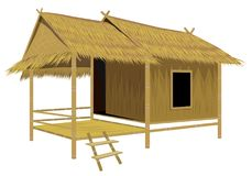 Grass hut design. The grass hut design Royalty Free Illustration