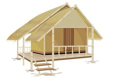 Grass hut design. The grass hut design Stock Illustration