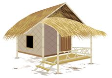 Grass hut design. The grass hut design Stock Photos