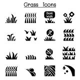 Grass icon set. Vector illustration graphic design Royalty Free Stock Photography