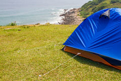 Grass Island in Hong Kong - Camp Site Royalty Free Stock Image