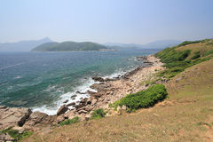 Grass island in hong kong Stock Images
