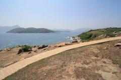 Grass island in hong kong Stock Photo