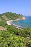 Coast, vegetation, sea, headland, nature, reserve, coastal, and, oceanic, landforms, promontory, sky, shore, cape, bay, beach, inl royalty free stock image