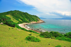 Grass Island sea view Royalty Free Stock Images