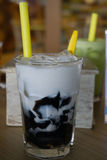 Grass Jelly Beverage Stock Photo