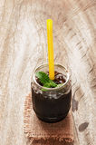 Grass jelly Stock Photo