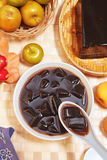 Grass jelly. Is a popular dessert in Taiwan Royalty Free Stock Image