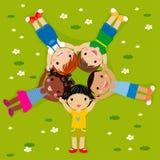 grass kids иллюстрация вектора