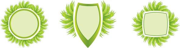 Grass label Royalty Free Stock Photos