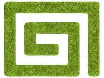 Grass labyrinth Stock Photography