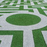 Grass labyrinth Royalty Free Stock Image