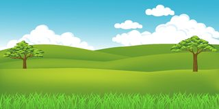 Grass landscape Royalty Free Stock Image