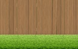 Free Grass Lawn And Brown Wooden Fence. Spring Background. Stock Photos - 139266533