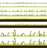 Grass And Lawn Layers Set Stock Photo