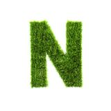 Grass letter Royalty Free Stock Images
