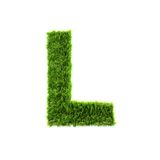 Grass letter Stock Images