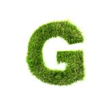 Grass letter Royalty Free Stock Image