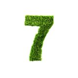 Grass letter Royalty Free Stock Photo