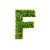 Grass letter Royalty Free Stock Photography