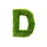 Grass letter Stock Photography