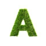 Grass letter Stock Photos
