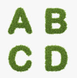 Grass letter set Royalty Free Stock Photo