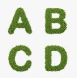 Grass letter set. Isolated on white background vector illustration