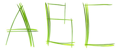 Grass letters Royalty Free Stock Photography
