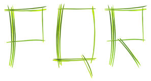 Grass letters Stock Image