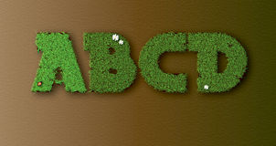 Grass letters ABCD  Stock Photo