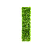 Grass lower-case letter Royalty Free Stock Photography